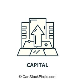 Capital vector line icon, linear concept, outline sign, symbol