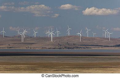 capital, vento, farm., vista, de, federal, rodovia,...