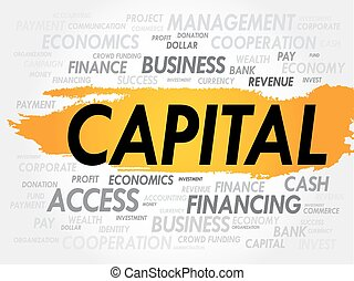 CAPITAL word cloud, business concept
