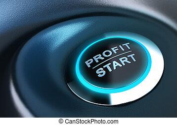 capitale, amministrazione, profitto, e, investimento