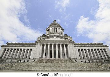 capitale statale, costruzione storica, entrata, 2