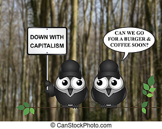 Capitalism demonstration - Comical capitalism demonstration...