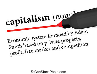 capitalism - EPS 10 Vector of dictionary definition of...
