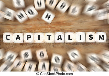 Capitalism politics financial money rich economy dice business concept