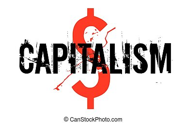 Capitalism sticker stamp - Capitalism sticker. Authentic...