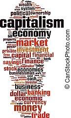 capitalismo, palabra, nube
