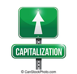 capitalizations road sign illustrations design