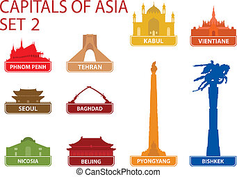 Capitals of Asia. Set 2. For you design