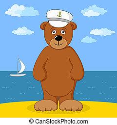 capitano, costa, orso mare, teddy