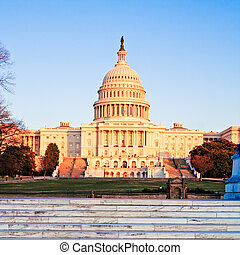 Capitol Building at Sunset, Washington DC