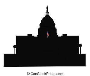 capitol building in dc  outline
