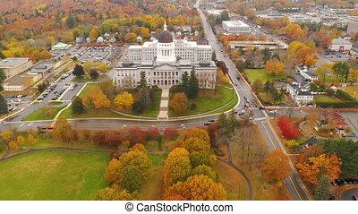 Capitol Building State House Augusta Maine Autumn Season...