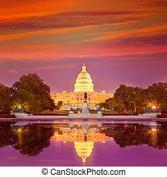 Capitol building sunset Washington DC congress - Capitol...
