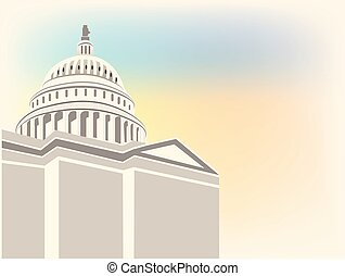 Capitol building vector logo template