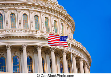 Capitol building Washington DC american flag USA