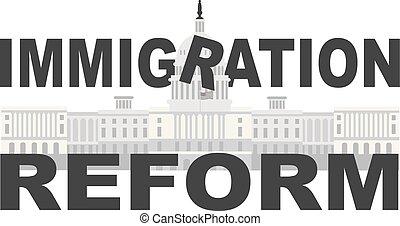 capitol, c.c. washington, imigração, reform