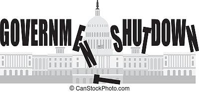 capitol, c.c. washington, shutdown, governo