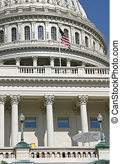 Capitol Close-Up - A close-up of the Capitol building in...
