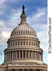 capitol de los e.e.u.u, cúpula, casas, de, congreso,...