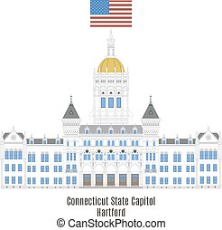 capitol, estado unido, estados, hartford, connecticut, américa