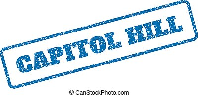 Capitol Hill Rubber Stamp - Blue rubber seal stamp with...