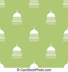 Capitol Icon Seamless Pattern