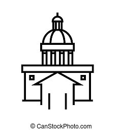 Capitol line icon, concept sign, outline vector illustration, linear symbol.