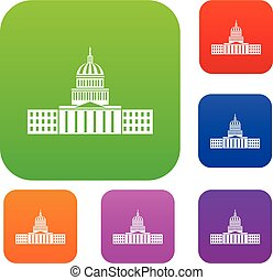 Capitol set collection - Capitol set icon in different...