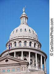 capitol, top view downtown  in Austin texas
