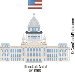 capitol, unidas, illinois, estados, estado, américa,...