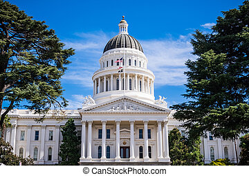 capitole, bâtiment californie, état, sacramento