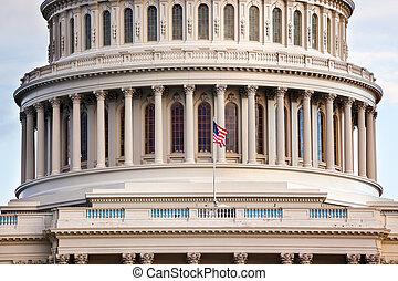 capitole, congrès, washington dc, nous, maisons
