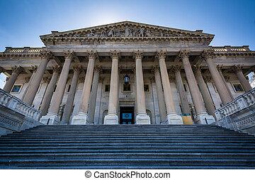 capitole, maison, bâtiment, dc., washington, uni, représentants, etats