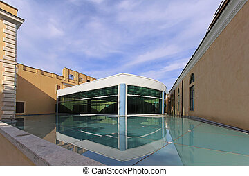 Capitoline Museums Rome - Modern glass roof of the ...