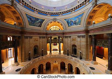 capitolio de estado federal, dentro, minnesota