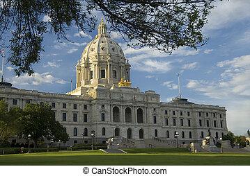 capitolio de estado federal, minnesota, paisaje, vista