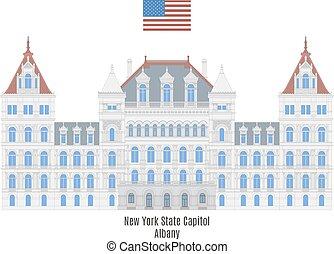 capitolio, nuevo, estado, york, albany