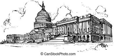 Capitol,line art - Capitol line art,