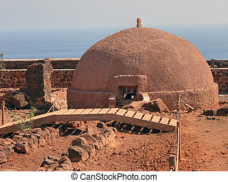 Fortifications inside the walls of Capo Verde