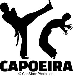 Capoeira fight with word
