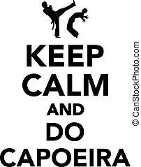 capoeira, kalm, bewaren