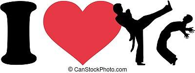 capoeira, liefde, vechten