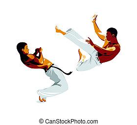 capoeira, luchadores
