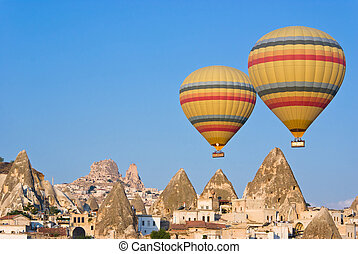 Cappadocia, Turkey - hot air balloons at Cappadocia - Turkey