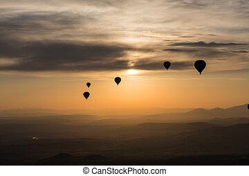 cappadocia, vôo, turista, balloon, atração, maior,...