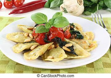 Cappelletti - Rocket and Ricotta Cappelletti with pine nuts,...