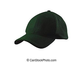 cappello bianco, isolato, fondo