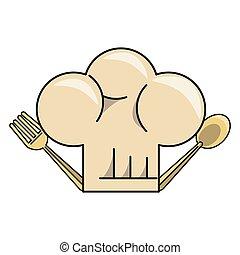 cappello chef, cartone animato