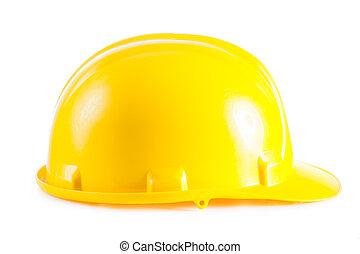 cappello duro, isolato, bianco