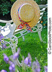cappello estate, giardino, peacuful